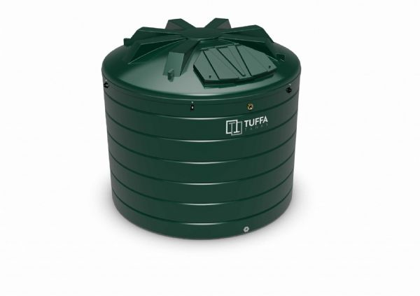 10000 Litre Circular Heating Oil Tank - Plastic Bunded